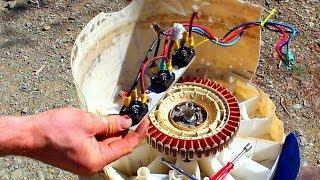 Kendin Yap, Çamaşır makinasından jeneratör yapımı, www.kendinyapsitesi.com