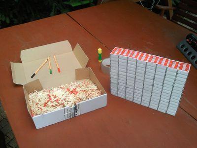 kendin yap elektronik malzemeler için kibrit kutusundan çekmece yapımı