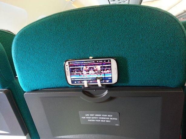 Kendin Yap, Uçak koltuguna telefon sabitleme aparati, www.kendinyapsitesi.com