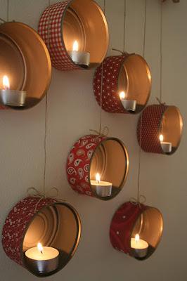 Kendin Yap, Konserve kutularından dekoratif şamdan yapımı, www.kendinyapsitesi.com
