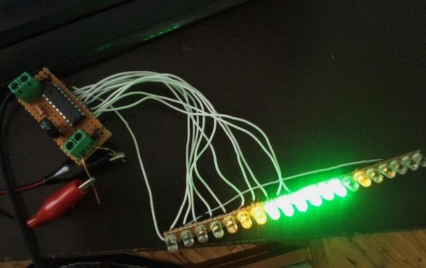 Kendin Yap, 2x10 LED li VuMetre, www.kendinyapsitesi.com