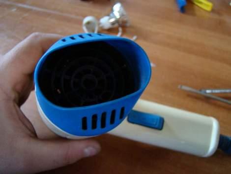 Kendin Yap, Saç kurutma makinasindan el feneri yapimi, www.kendinyapsitesi.com