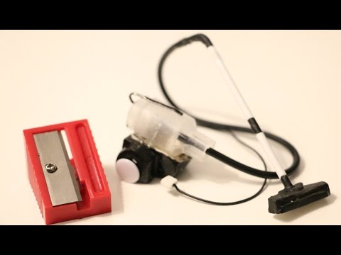 Minyatür elektrikli süpürge yapımı