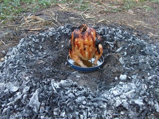 tenekede tavuk pişirme aparatı yapımı