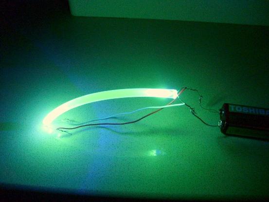 UV sivili neon gece lambasi yapimi